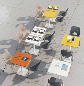 TABLE CAFETERIA PIED CARRE CL MATERIC