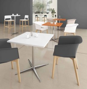 TABLE CAFETERIA PIED CROISE CL MATERIC