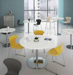 TABLE CAFETERIA PIED ROND MATERIC