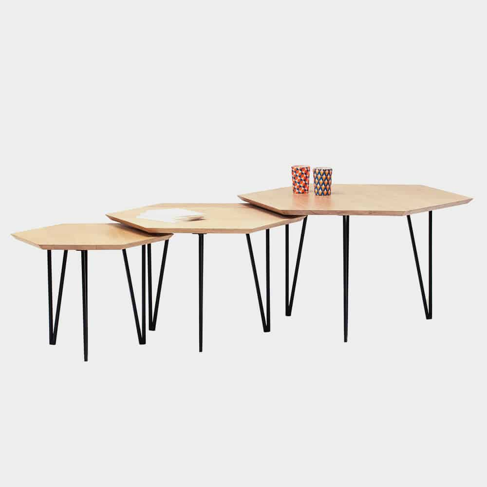 TABLE BASSE HEXAGONE RAC MATERIC